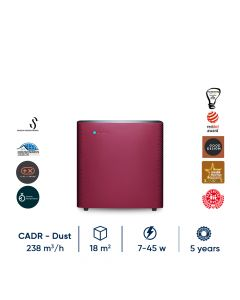 Blueair Sense+ Ruby Red Alat Pembersih udara Air Purifier Terbaik