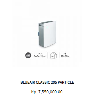 Blueair Air Purifier Classic 205 Particle
