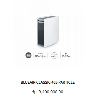 Blueair Air Purifier Classic 405 Particle