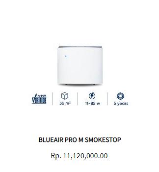 Blueair Air Purifier Pro M Smokestop