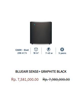 Blueair Air Purifier Sense Graphite Black