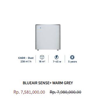 Blueair Air Purifier Sense Warm Grey