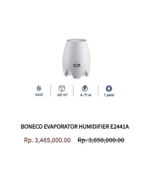 BONECO EVAPORATOR HUMIDIFIER E2441A