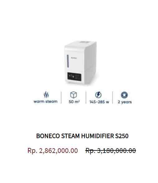 BONECO STEAM HUMIDIFIER S250