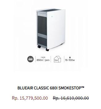 Blueair Air Purifier Classic 680i Smokestop