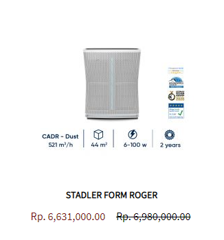 Stadler Form Air Purifier Roger