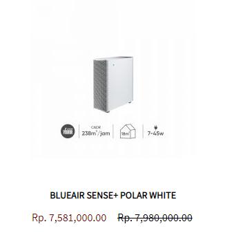 Blueair Air Purifier Sense Polar White