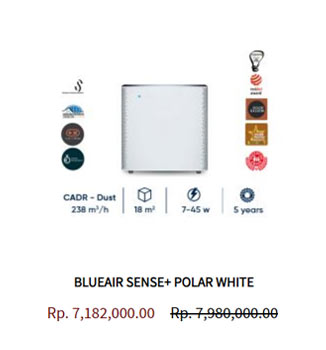 Blueair Air Purifier Sense Polar White