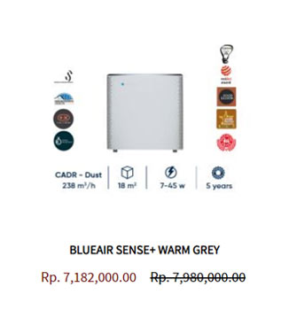 Blueair Air Purifier Sense Warm Grey
