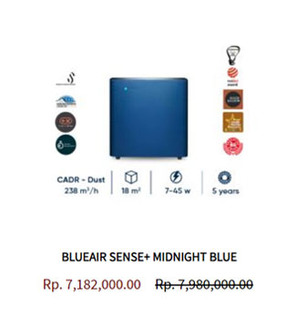 Blueair Air Purifier Sense Midnight Blue