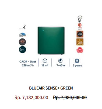 Blueair Air Purifier Sense Leaf Green